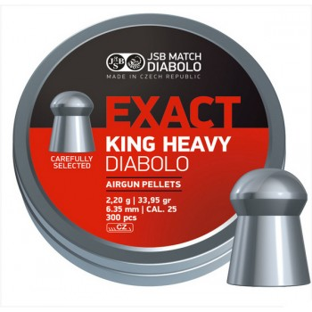 Пули JSB EXACT KING HEAVY DIABOLO 2,20g 6,35mm 300шт