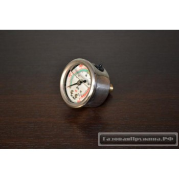 Манометр воздушный жидконаполненный 40 МРа